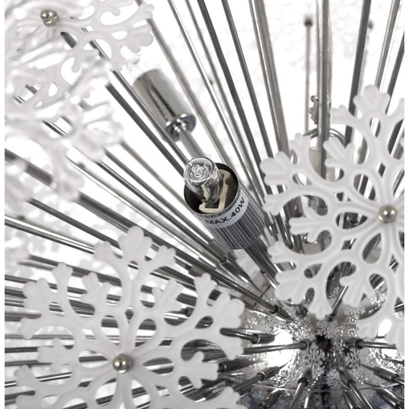 Lampe à suspension design ANABE en métal (chromé) - image 17276