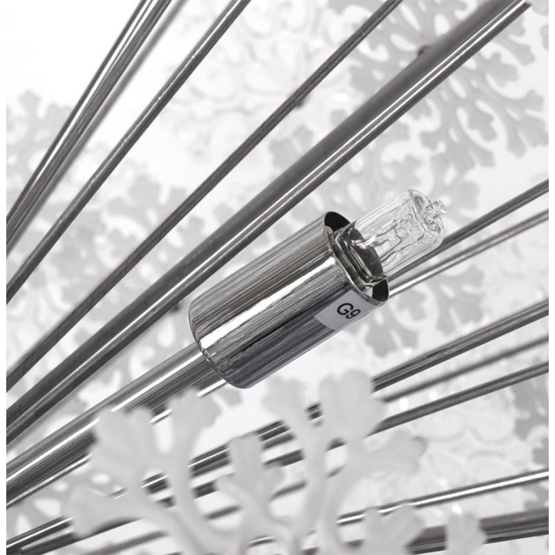 Lampe à suspension design ANABE en métal (chromé) - image 17277