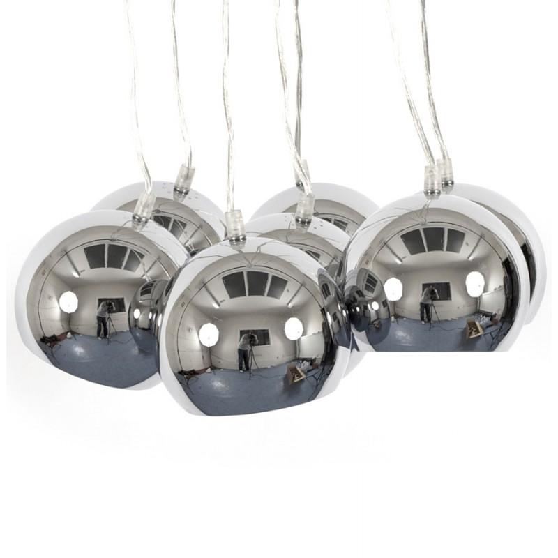 Lampe à suspension design BARE en métal (chromé) - image 17313