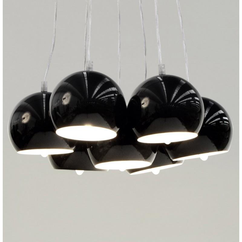 Lampe à suspension design BARE en métal (noir) - image 17318