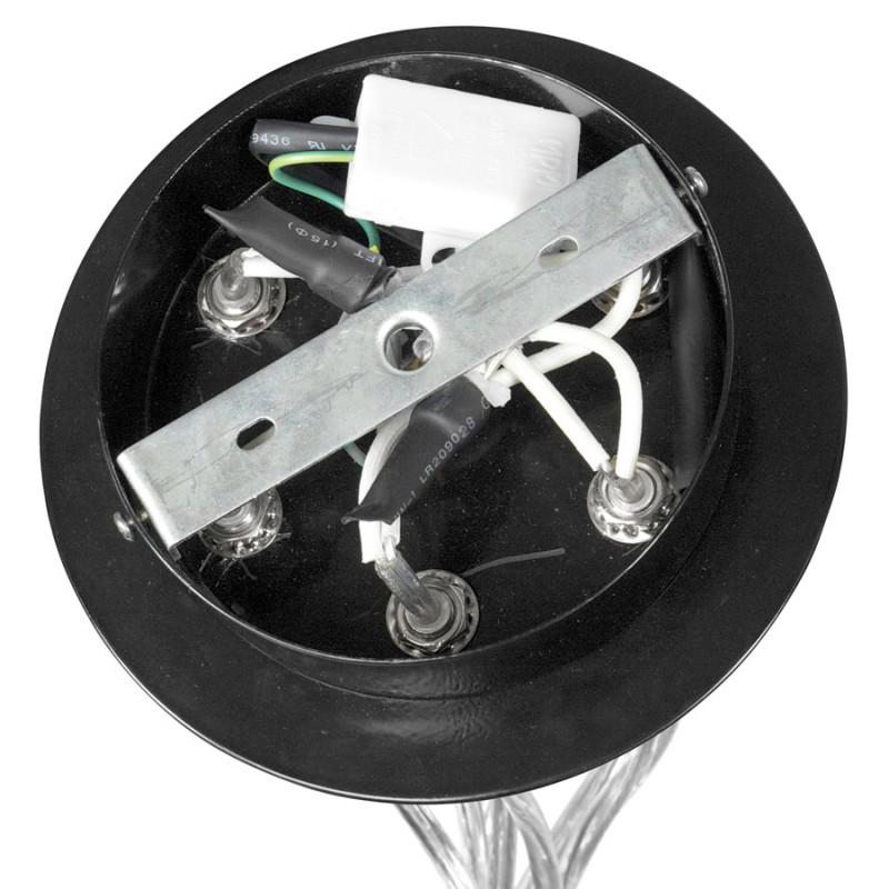 Lampe à suspension design BARE en métal (noir) - image 17321