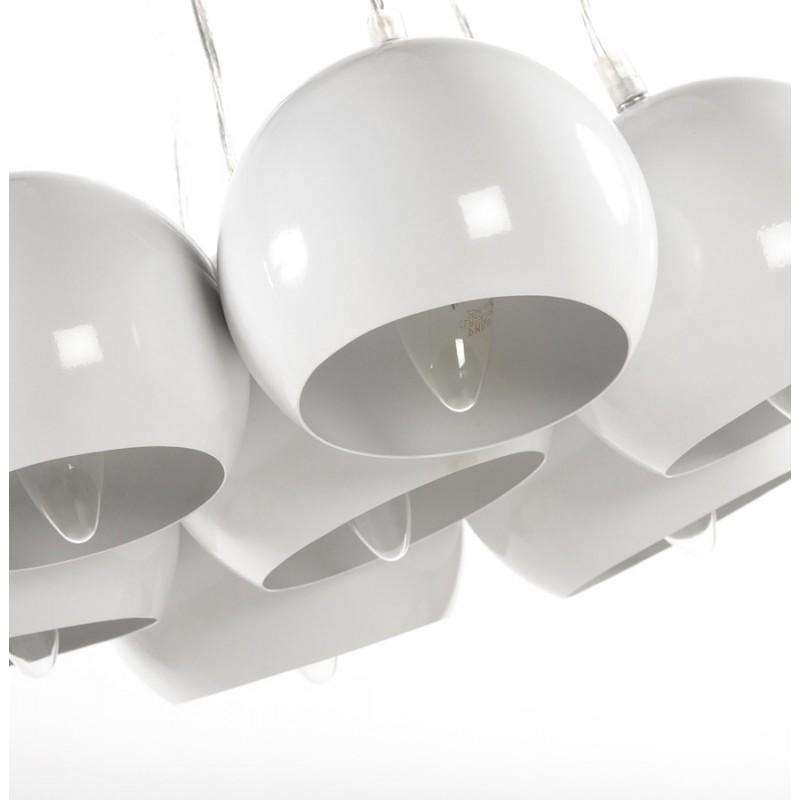 lampe suspension design bare en m tal blanc. Black Bedroom Furniture Sets. Home Design Ideas
