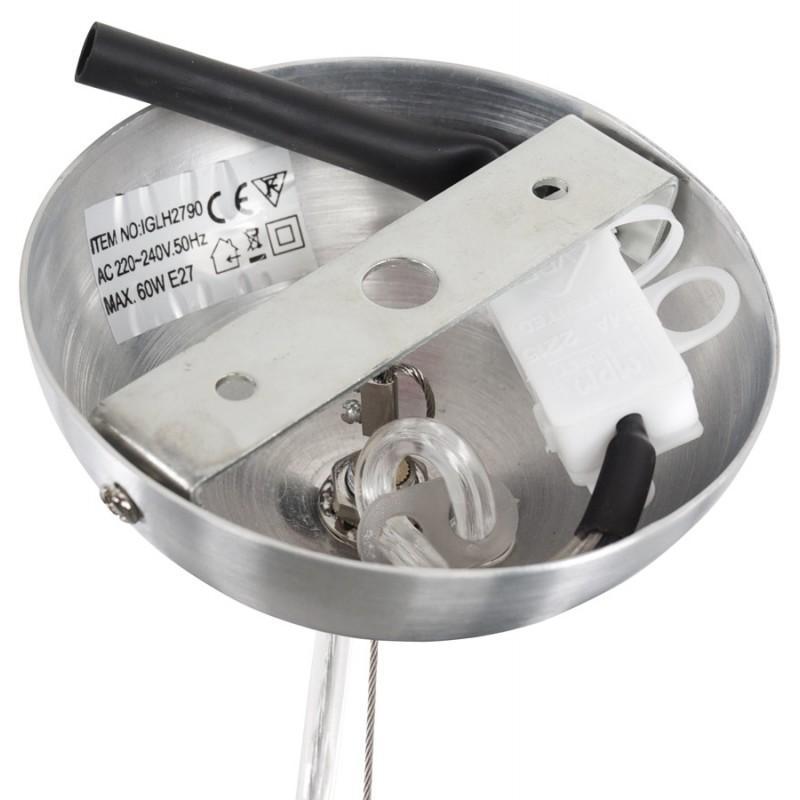 Lampe à suspension design ARGUS en métal (acier brossé) - image 17349