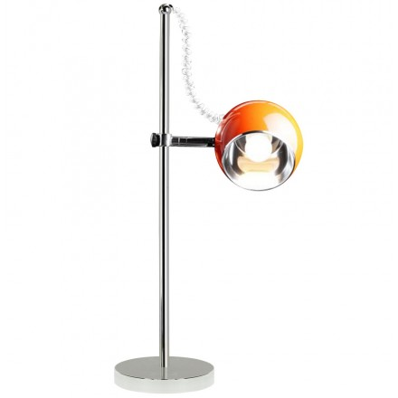 Metal BATARA design table lamp (orange)
