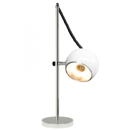 Design table BATARA metal lamp (white)