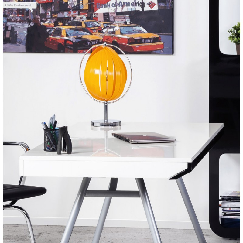 BECHE SMALL metal design table lamp (orange) - image 17401