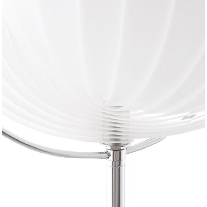 lampe de table design beche small en m tal blanc. Black Bedroom Furniture Sets. Home Design Ideas