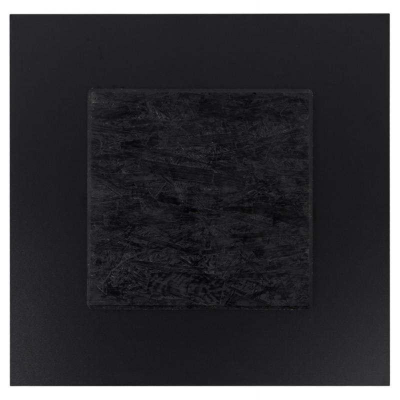 Plateau de table carré VERA en polymère (60cmX60cmX3cm) (noir) - image 17411
