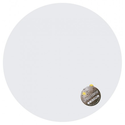 Table top round VERA polymer (60cmX60cmX3cm) (white)