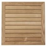 Plateau de table CAMILLA carré en bois de teck (naturel)