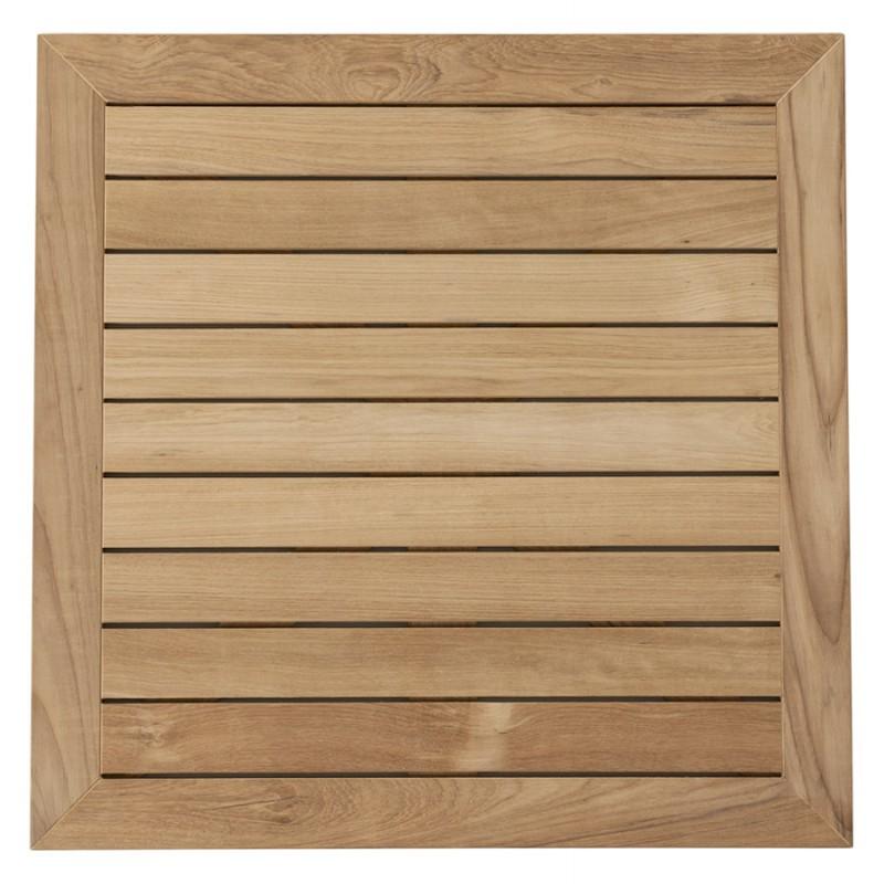 Plateau de table CAMILLA carré en bois de teck (naturel) - image 17432