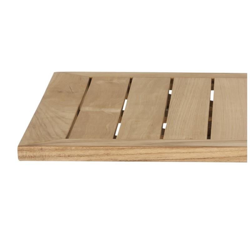 Plateau de table CAMILLA carré en bois de teck (naturel) - image 17434