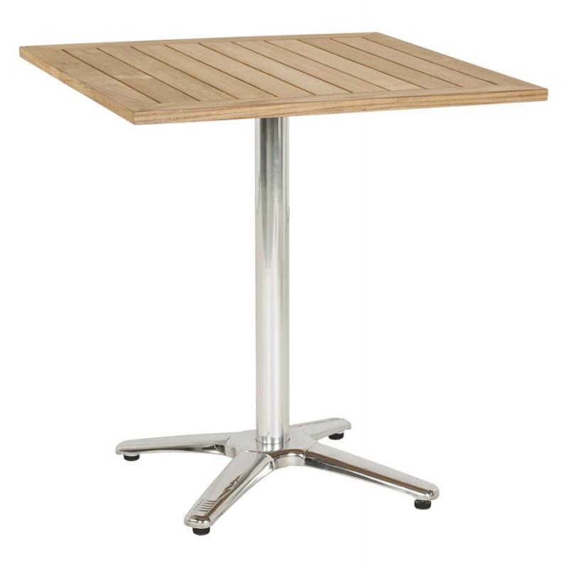 Plateau de table CAMILLA carré en bois de teck (naturel) - image 17435