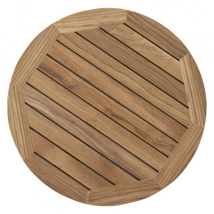 Round table CAMILLA tray teak wood (natural)