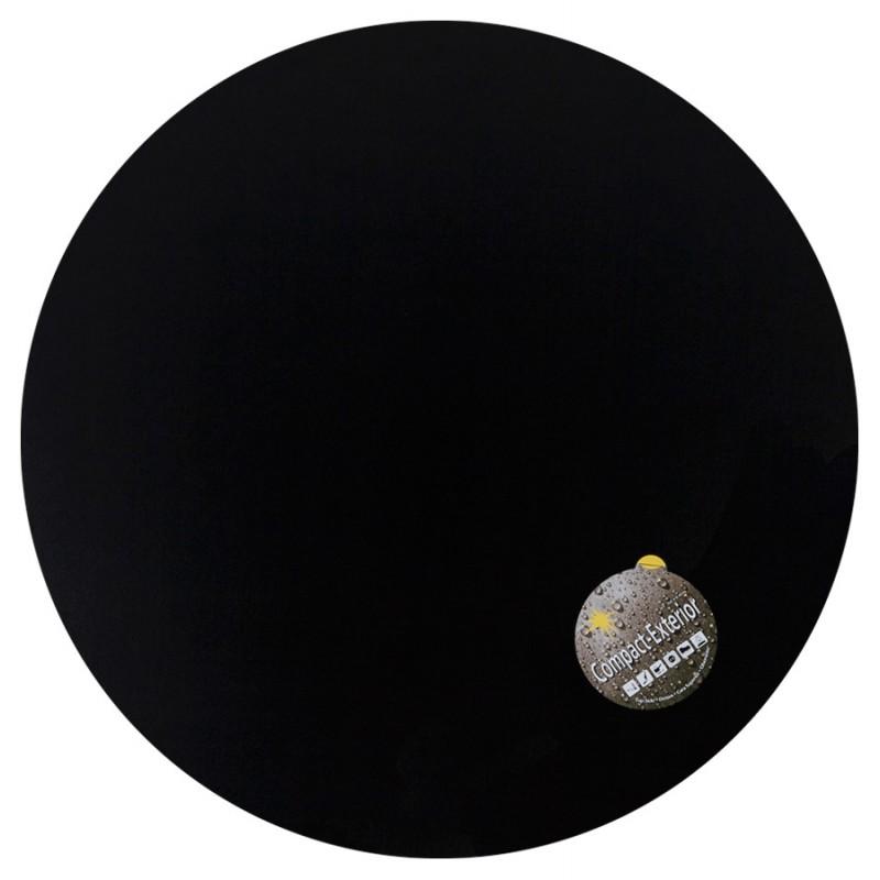 Plateau de table LILAS rond en polymère (68cmX68cmX3cm) (noir)