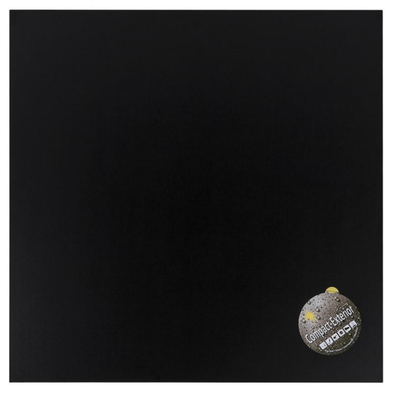 Plateau de table LILAS carré en polymère (68cmX68cmX3cm) (noir)