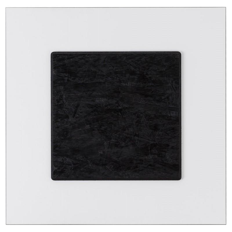 Plateau de table LILAS carré en polymère (68cmX68cmX3cm) (blanc) - image 17456