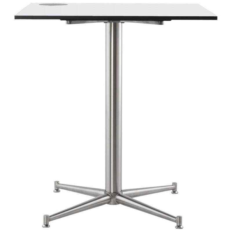 Plateau de table LILAS carré en polymère (68cmX68cmX3cm) (blanc) - image 17461