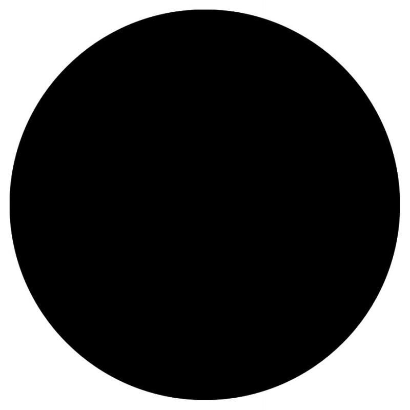 Plateau de table FLORA rond en bois stratifié (70cmX70cmX2cm) (noir) - image 17592