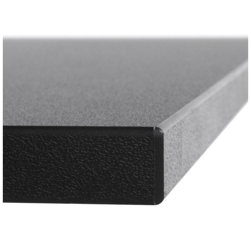 plateau de table lea carr en bois stratifi 60cmx60cmx2cm noir. Black Bedroom Furniture Sets. Home Design Ideas
