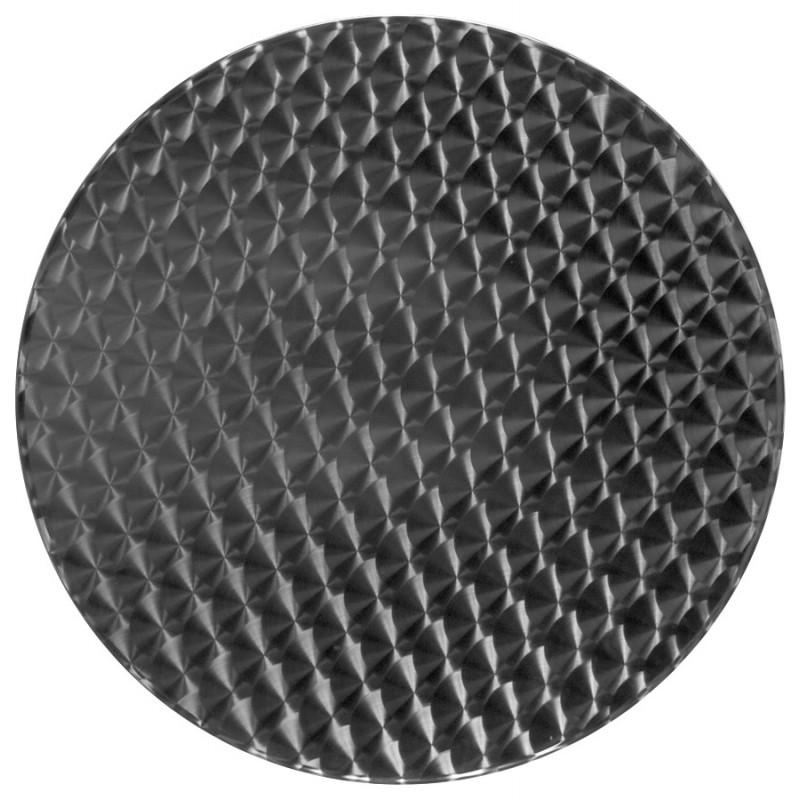 Plateau de table ISA rond en bois et acier inoxydable (60cmX60cmX2cm)  - image 17614