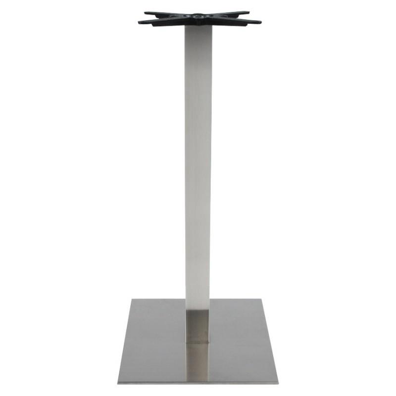 pied de table wind carr sans plateau en acier bross. Black Bedroom Furniture Sets. Home Design Ideas