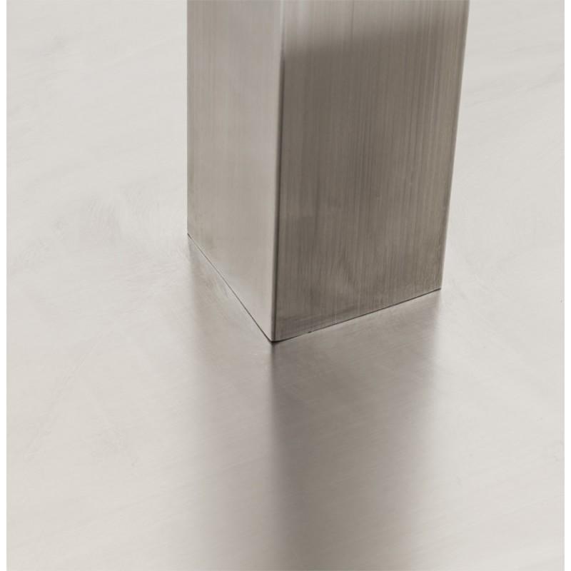 Pied de table WIND carré sans plateau en acier brossé (50cmX50cmX110cm) (acier) - image 17631