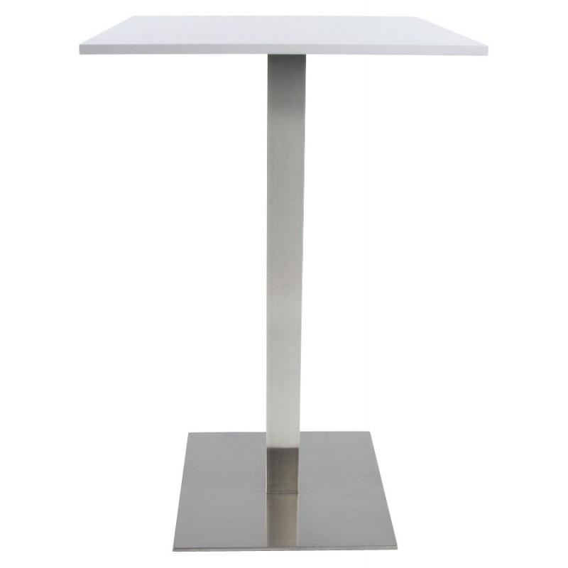 Pied de table WIND carré sans plateau en acier brossé (50cmX50cmX110cm) (acier) - image 17638