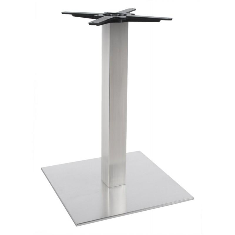 Pied de table WIND carré sans plateau en acier brossé (50cmX50cmX73cm) (acier) - image 17639