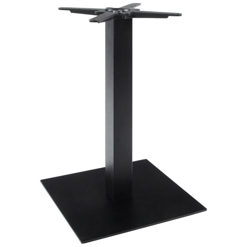 Pied de table WIND carré sans plateau en métal (50cmX50cmX73cm) (noir)