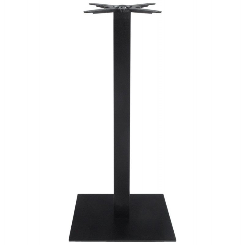 pied de table wind carr sans plateau en m tal 50cmx50cmx110cm noir. Black Bedroom Furniture Sets. Home Design Ideas