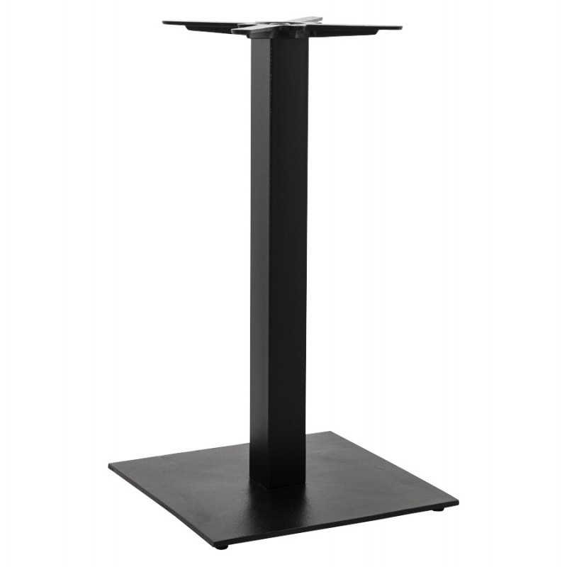 pied de table pary carr en m tal 50cmx50cmx90cm noir. Black Bedroom Furniture Sets. Home Design Ideas