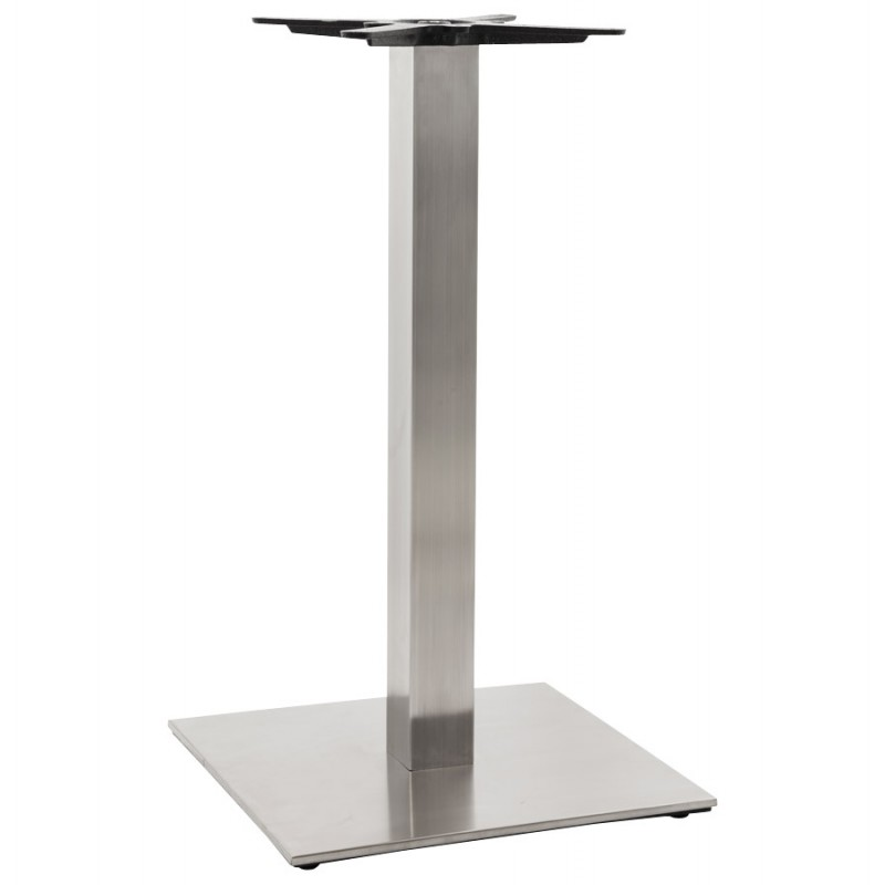 Pied de table pary carr en m tal 50cmx50cmx90cm acier for Table en acier