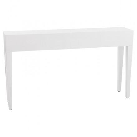Table console TIPKA en bois (MDF) recouvert de polyuréthane (blanc)