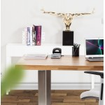 Table console TIPKA wood (MDF) covered with polyurethane (white)