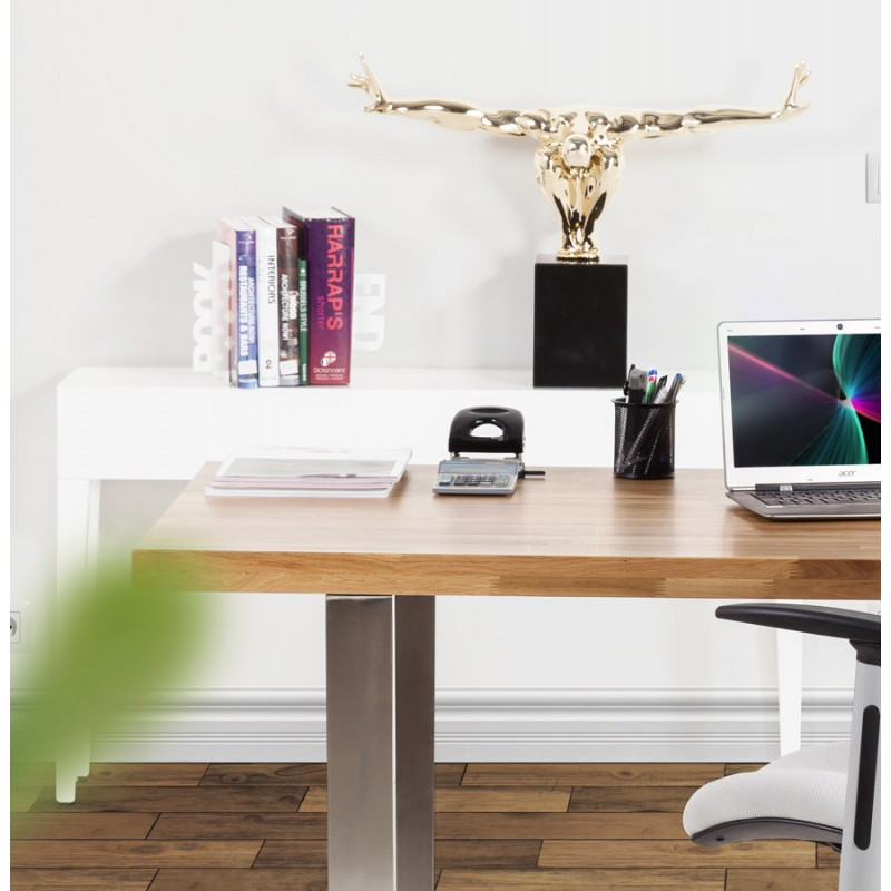Table console TIPKA wood (MDF) covered with polyurethane (white) - image 17862