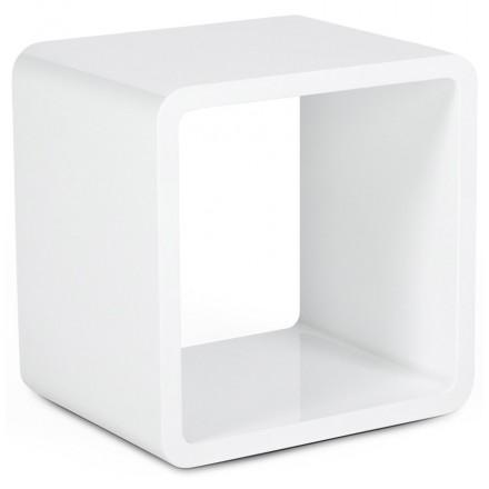 Cube à usage polyvalent VERSO en bois (MDF) laqué (blanc)