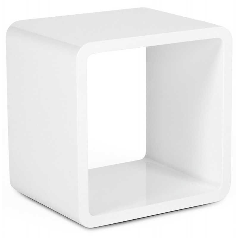 Cube to use verso wooden mdf lacquer white - Decoratie tafel basse ...