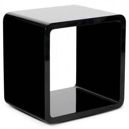 Cube multipurpose use wooden VERSO (MDF) lacquered (black)