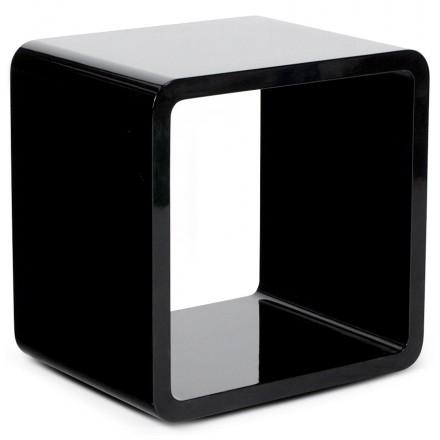 Uso polivalente Cubo de madera VERSO (MDF) lacado (negro)