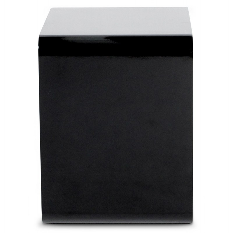 Uso polivalente Cubo de madera VERSO (MDF) lacado (negro) - image 17944