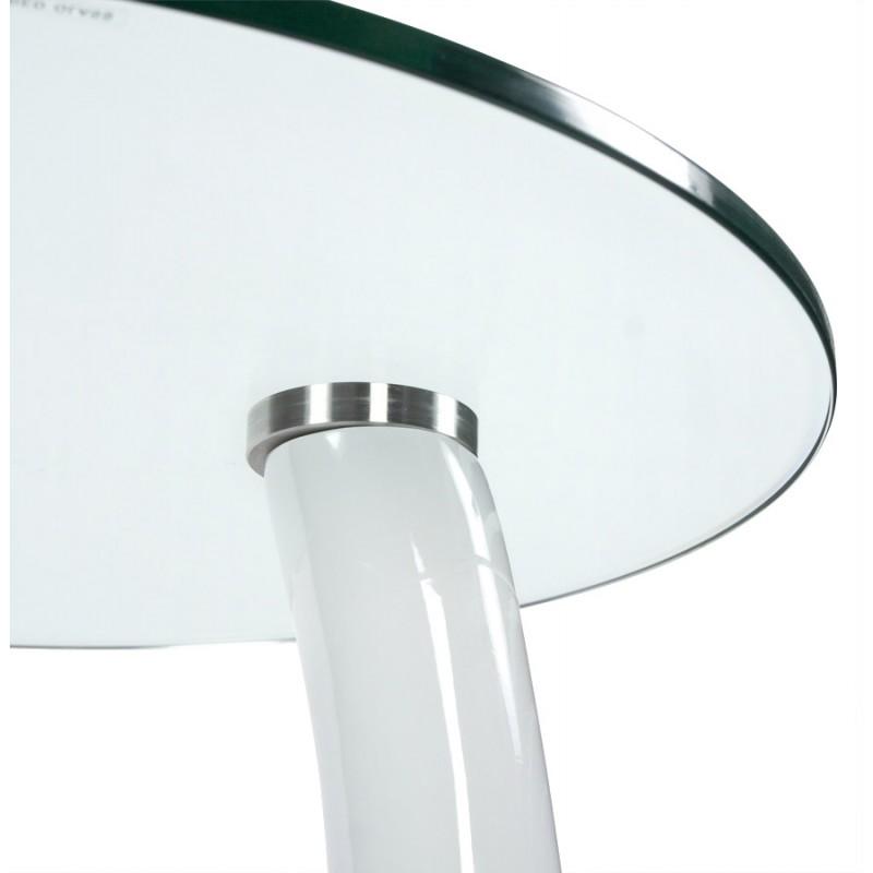 Console or table tarn tempered fiberglass white - Console verre trempe ...