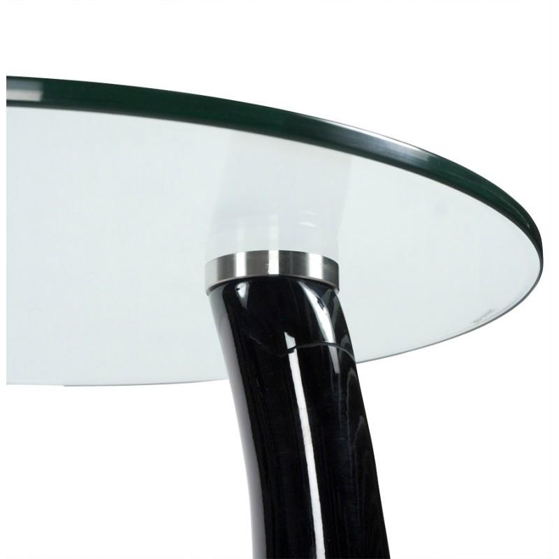 Consola o mesa TEAR de fibra de vidrio templado (negro) - image 17974