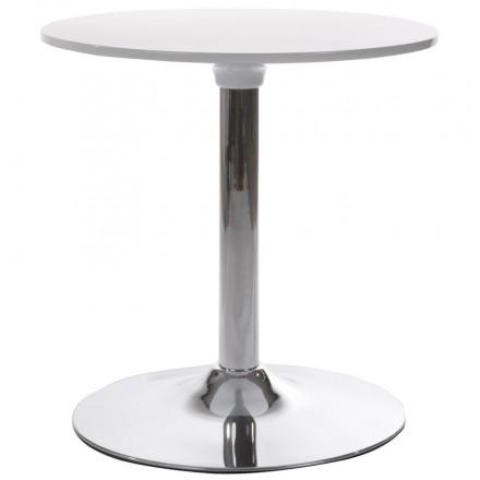 Mesa redonda MARS de metal y ABS (mat! era de plástico resistente) (blanco)