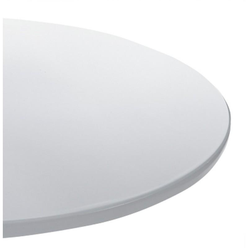 Tavola rotonda MARS metallo e ABS (stuoia! epoca plastica resistente) (bianco) - image 17981