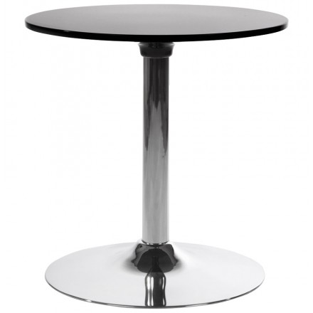 Table ronde MARS en métal et ABS (mat!ère plastique résistante) (noir)