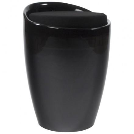 Tronco sgabello ABS YONNE (materiale plastico resistente) (nero)