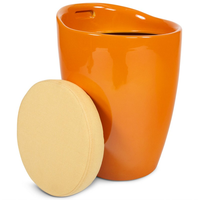 Tabouret coffre YONNE en ABS (matière plastique résistante) (orange) - image 18029