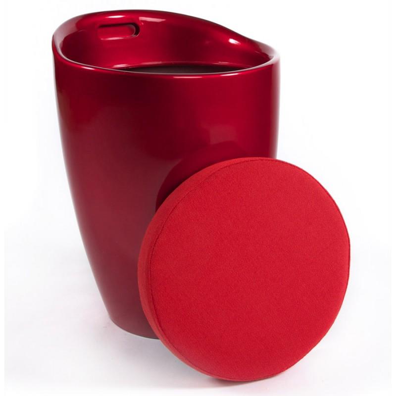 Tabouret coffre YONNE en ABS (matière plastique résistante) (rouge) - image 18037