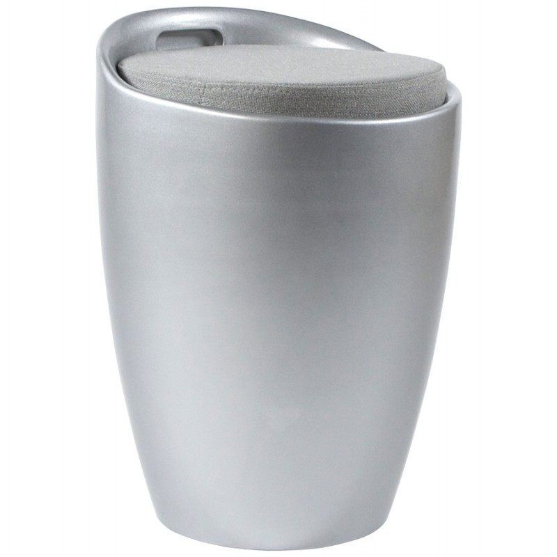 Tabouret coffre YONNE en ABS (matière plastique résistante) (argent) - image 18038